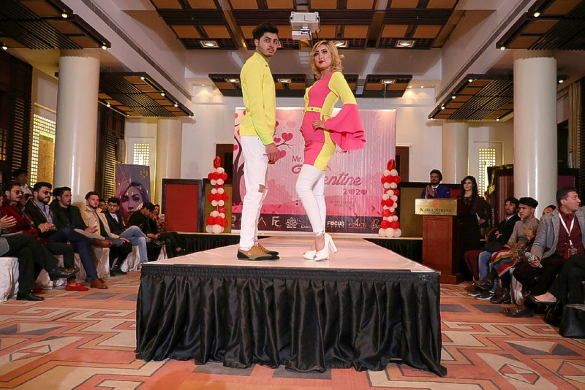 Mr and Ms Valentine: Afghanistan celebrates with roses and fashion