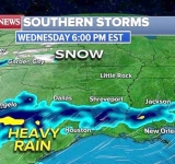 Heavy rain and snow forecast across the South as Arctic blast moves to Northeast