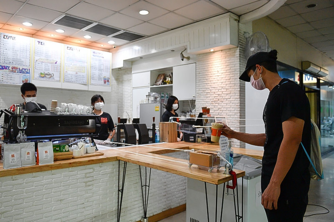 Cafe serves coffee on wheels to maintain social distance