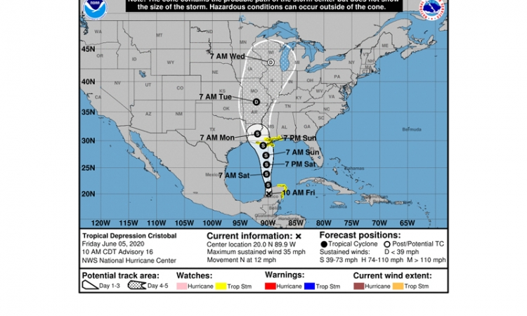 Tropical Depression Cristobal Advisory Number 16