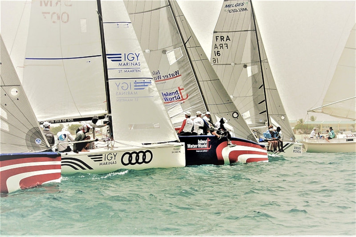 Team FKG wins the keelboat day but,  Island Water World takes series
