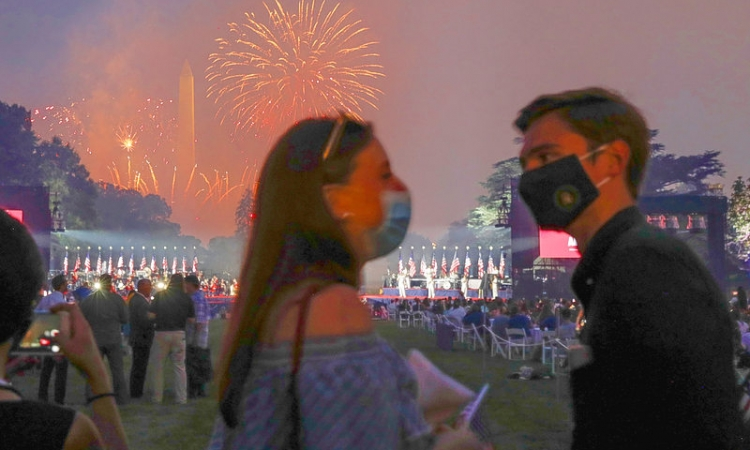 Soaring US coronavirus cases overshadow July 4 celebrations