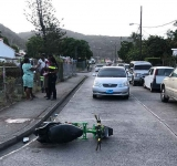 Road accident in Statia lands scooter rider in intensive care