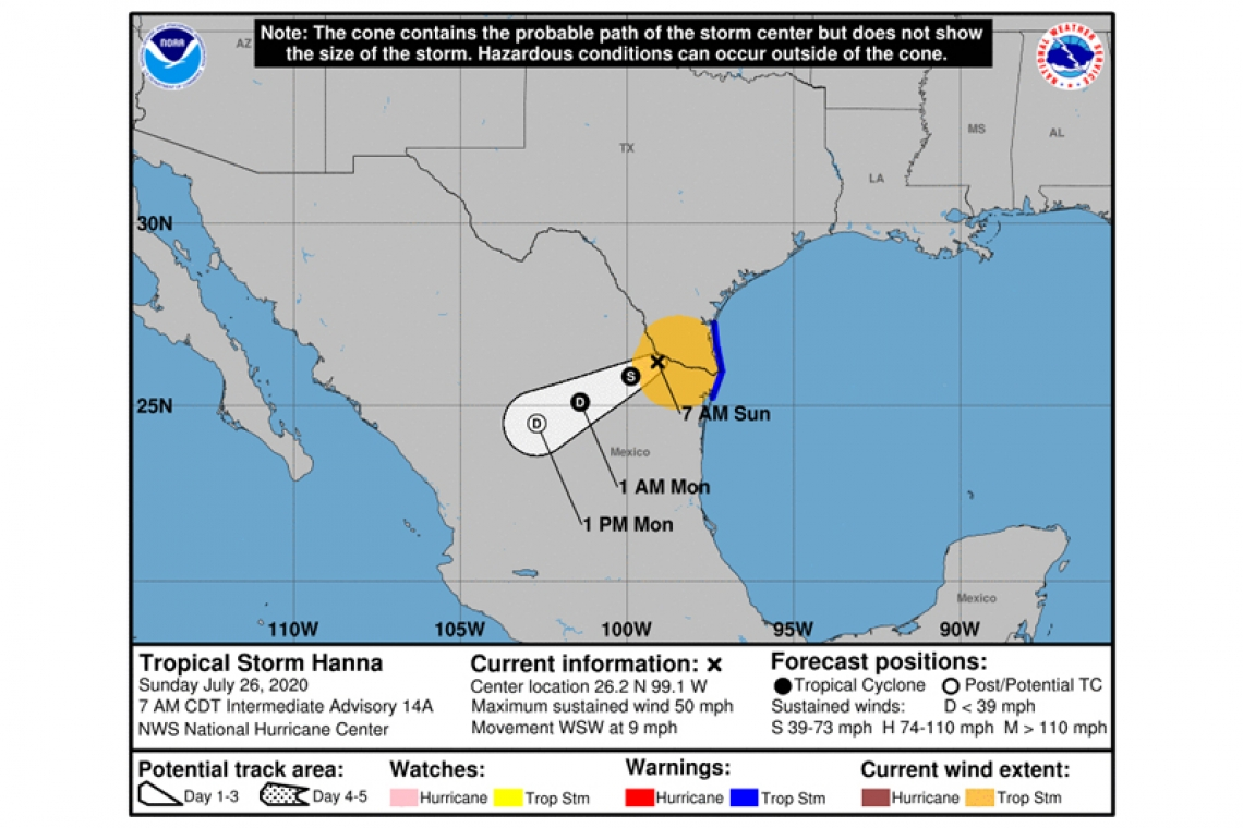 ...HANNA PRODUCING HEAVY RAIN AND DANGEROUS FLASH FLOODING OVER FAR SOUTHEAST TEXAS AND NORTHEAST MEXICO...