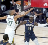 Jazz overtake Pelicans to  win NBA's first game back