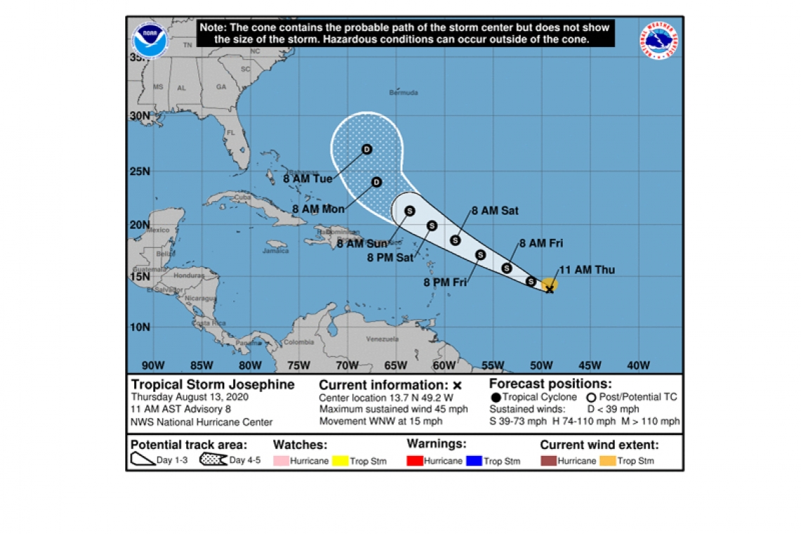 The Daily Herald Depression Becomes Tropical Storm Josephine