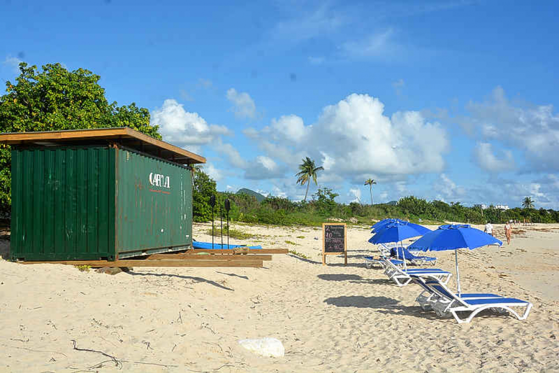 VROMI orders removal of  container on Mullet beach